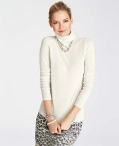 Collectible Cashmere Turtleneck Sweater #ATHauteHoliday