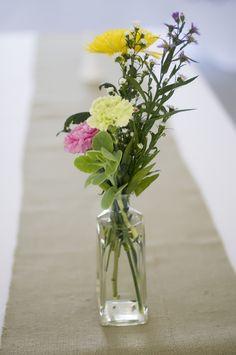 Flowers in Jar Centerpiece