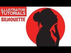 How To Create Silhouette Photo Illustrator Tutorials - YouTube