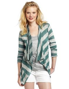 Willow & Clay Women's Stripe Open Cardigan Willow & Clay. $37.40. Hand Wash. 54% Polyester/42% Rayon/4% Spandex. This Willow and Clay cardigan has a draped front, dropped shoulders, and a handkerchief hem. Appliqué detail on back. Side elastic ruching at cuffs. Shorter back hem.