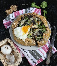 Диетическая галета с грибами, брокколи и яйцом   Рецепты правильного питания - Эстер Слезингер