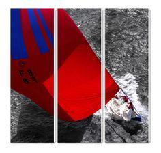 Le 12 mètres JI France - Triptyque - Toile