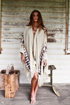 Desert Wanderer Cape - Off White - Arnhem Clothing