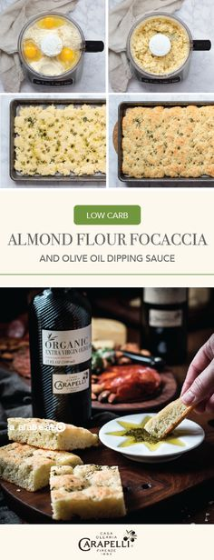 This delicious appetizer recipe for Herbed Homemade Low Carb Focaccia Bread with high-quality Carapelli® Organic Extra Virgin Olive Oil Dipping Sauce has a sneaky surprise—it's actually made with almond flour! With plenty of fresh herbs and Italian spices, this is one party starter you can bet will be a hit with guests all season long. By picking up all the ingredients you need at Whole Foods Market, you'll be set for your next fall or holiday celebration.