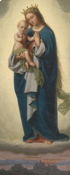 Madonna and Child - Franz Ittenbach Religious Pictures, Religious Icons, Religious Art, Madonna Und Kind, Madonna And Child, Blessed Mother Mary, Blessed Virgin Mary, Images Of Mary, Queen Of Heaven
