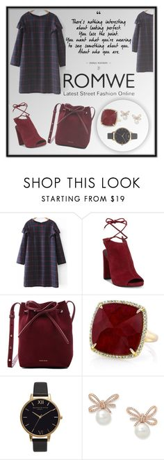 """""""Dress from ROMWE"""" by havka ❤ liked on Polyvore featuring Kenneth Cole, Mansur Gavriel, Anne Sisteron and Olivia Burton"""