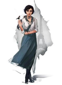 "Elizabeth from ""Bioshock: Infinite."""