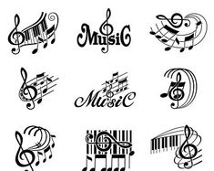 Shop Etsy Studio, a new global market for everyday, unique, and custom made craft supplies. Find tons of inspiration and DIY projects and keep making. Diskrete Tattoos, Music Tattoos, Tatoos, Music Crafts, Music Decor, Musik Clipart, Treble Clef Tattoo, Music Notes Art, Music Tattoo Designs