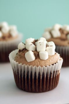 Hot Chocolate Cupcakes!! YES, please!