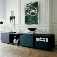 """long sideboard  - a bit low 110.25"""" W, 23.75"""" D, 22"""" H  TV stand?"""