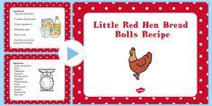 Little Red Hen Bread Rolls EYFS Recipe PowerPoint Rhyming Activities, Preschool Themes, Kindergarten Activities, Writing Activities, Up Theme, Farm Theme, Little Red Hen Story, Apple Theme, Little Learners