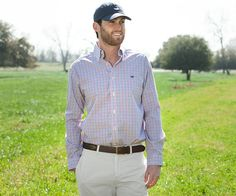 Southern Marsh Collection — The Nottoway Check - Wrinkle Free http://www.dixiepickersstore.com/