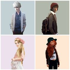 Disney characters in modern clothes  | What Disney Characters Look Like in Regular Clothes
