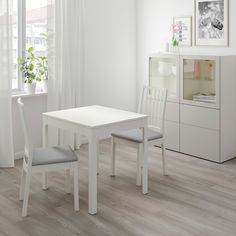 Kitchen Living Room IKEA - EKEDALEN / Table and 2 chairs white, Orrsta light gray - IKEA -Table and 2 chairs white, Orrsta light gray Min. At Home Furniture Store, Modern Home Furniture, Living Room Furniture, Furniture Online, Luxury Furniture, Chaise Ikea, Ikea Chair, Ikea Couch, Smart Design