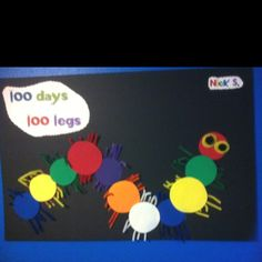 100 days of school! 100th Day Of School Crafts, 100 Day Of School Project, 100 Days Of School, School Stuff, Preschool Projects, Classroom Crafts, Classroom Themes, Preschool Activities, Class Projects