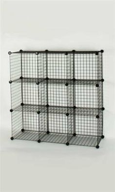 Black Wire Mini-Grid Unit With Back- 3 X 3 by Store Supply Warehouse. $41.72. Black Wire Mini-Grid Unit with Back open cubes to let you show your merchandise from all directions to sell. This 3 x 3 unit uses 33 panels and 32 connectors.
