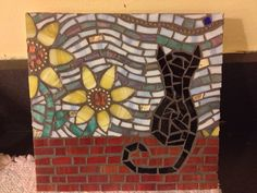 Mosaic by Colleen of Glasstyles. #cats #mosaics