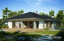 Miriam V - Dobre Domy Flak & Abramowicz My Dream Home, Gazebo, House Plans, Sweet Home, House Design, Outdoor Structures, Mansions, House Styles, Outdoor Decor