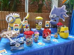 Kloe- Despicable Me Movie Night: Concession Table Idea Minion Party Theme, Despicable Me Party, 5th Birthday Party Ideas, Minion Birthday, 8th Birthday, Happy Birthday, Donna Dewberry, Baby Shower, Party Time