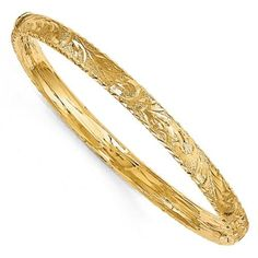 """Bold 1//2/"""" Wide  X Textured Satin Bangle Bracelet Real 10K Yellow Gold 12mm"""