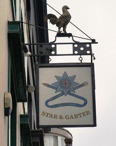 Pub Sign Art a la cARTe: The Star & Garter, London, W1 - Poland Street