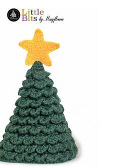 Juletræ - Gratis hækleopskrift på denne søde lille julebamse. Det hæklede juletræ er lavet i den fine Mayflower Hit-Ta-Too. Mayflower Hit-Ta-Too er en 100 % acryl kvalitet. [Omigami, Gratis opskrift, Hækleopskrift, Hækling, Crochet, Crocheting]