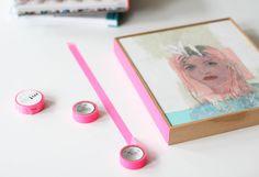 masking tape on frames.