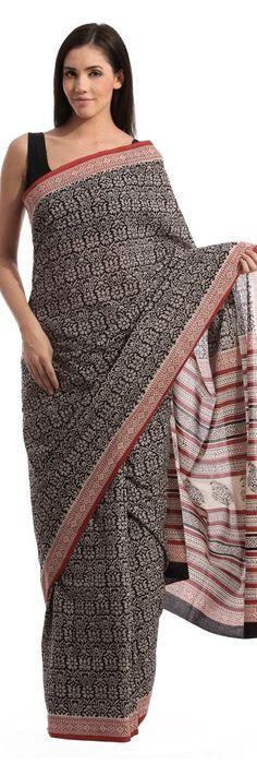 Printed cotton Saree from Fabindia