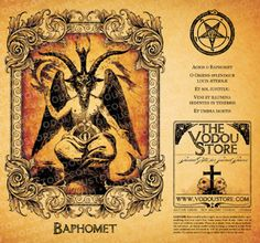 7-Day Candle Label - Baphomet