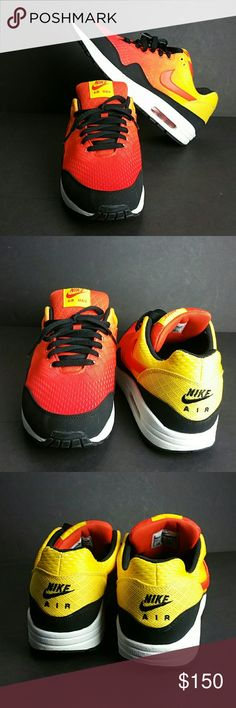 NIKE AIR MAX 1 EM SUNSET MEN'S SHOES VERY CLEAN INSIDE-OUT   SKE # NNPO NIKE Shoes Athletic Shoes