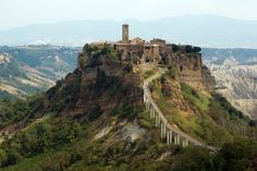 Picture of Civita di Bagnoregio is a town in the Province of Viterbo in Central Italy, a frazione of the comune of Bagnoregio stock photo, images and stock photography. Great Places, Beautiful Places, Places To Visit, Village Photos, World Geography, Ghost Towns, Vacation Spots, Travel Pictures, Monument Valley