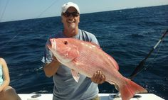 Nice red snapper caught on our deep sea fishing trip out of Fort Lauderdale.  Let's go fishing! www.FishHeadquarters.com #fishing