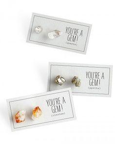 Gemstone Earrings-17 DIY Bridesmaid Gfits To Craft For Your Crew | Martha Stewart Weddings