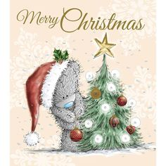 Tatty Teddy Decorating Tree Me to You Bear Christmas Card  £1.89