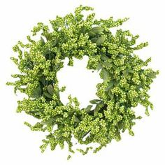 "Adorned with faux berries and grapevines, this charming wreath is a welcoming accent in the entryway or displayed above your mantel.  Product: WreathConstruction Material: GrapevineColor: Cream, green and whiteFeatures: Layers of berries accented with foliageDimensions: 24"" Diameter x 4"" D"