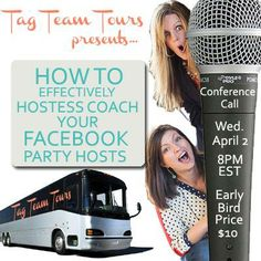 NEW TRAINING!!!! Join us as we guide you through the steps to effectively coach your Facebook party hostesses!  • Feeling frustrated with your Facebook party hostesses?  • Have low attendance at parties?  • Are you hostess coaching but not getting results?  • Facebook party hostesses not doing their part?  • Are you having low sales?  If said yes to any of these questions, then this training call if for you!
