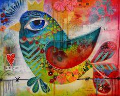 "Monika Dabrowska-Ejmont Painting ""Sweet Birdy"" Sold"