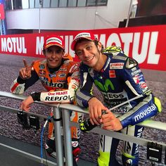 Hmm not sure they're as happy as smiles suggest - Assen 2015