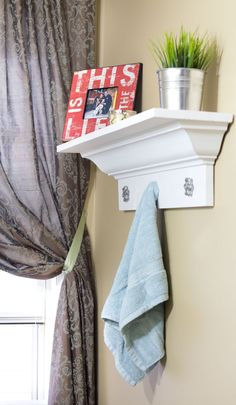 For the Bathroom - Master Suite - Shower Toilet Room Decorative-Crown-Molding-Shelf