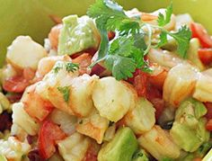 Shrimp and Avocado Salad. This is so good!!