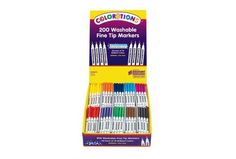 Colorations® Fine Tip Washable Marker Classroom Pack - Set of 200 - Item # FINEPACK