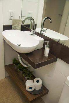 GRANITO MARROM ABSOLUTO Double Vanity, Sink, Bathroom, Interior, Nova, Home Decor, Wall Borders, Toilets, Ideas