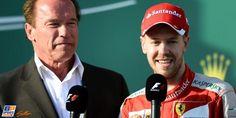 Vettel and Schwarzenegger #Australia2015
