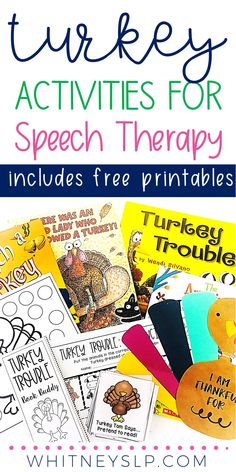Turkey Activities for Speech Therapy