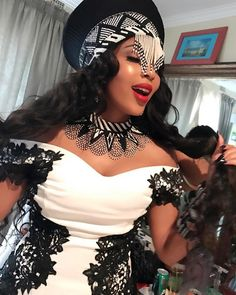 Isibaya actress, Linda Mtoba recently wed her long time beau, Steven Meyer. Take a look inside the gorgeous traditional wedding. African Dresses For Women, African Print Dresses, African Print Fashion, African Fashion Dresses, Africa Fashion, African Prints, Wedding Dresses South Africa, African Wedding Attire, African Attire