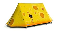 Cheese Please Tent - Delightful 2 Man Camping Tent that looks like a wedge of cheese. High Specification, Waterproof A-Frame Tent for 4 Season Use. Tent Camping, Camping Gear, Camping Hacks, Outdoor Camping, Outdoor Gear, Outdoor Spaces, Camping Photo, Motorcycle Camping, Camping Stuff