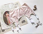 Pin Up Lingerie Garterbelt Sewing Pattern Ohhh Lulu 1314 Greta High Waist Garter Belt PDF Instant Download