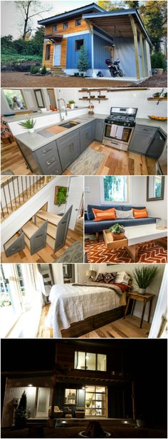 """Wondering How Industrial and Tiny Go Together? Step Inside This Tiny Home and See! Wind River Homes out of Chattanooga, TN makes the most darling tiny homes! One model that we can't get enough of is their """"Urban Micro Home"""". It's 650 square feet and is built on a permanent foundation but a smaller version is available that you can have shipped anywhere in the U.S."""