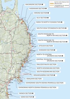 Hike alongside the Pacific Ocean and witness the beauty and scars of Tohoku. Turning Japanese, Pacific Ocean, Coastal, Trail, Hiking, Park, Camper, Walks, Caravan
