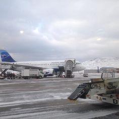 Vagar airport 16.april #atlanticairways #snow#freesingcold by turidskind